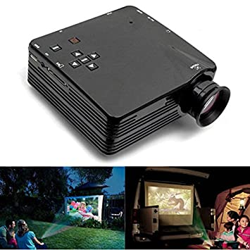 Rosa Lagarto H80 Mini LED proyector para Home TV VGA HDMI apoyo ...