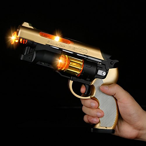 Fun Central AT752, 1 Pc, 8.5 Inches, LED Self-Loading Pistol, Toy Guns Pistol, Laser Toy Gun, Flashing LED Toy Gun, Toy Gun for Boys, Game Rewards, Party, for Birthdays, Christmas, Halloween