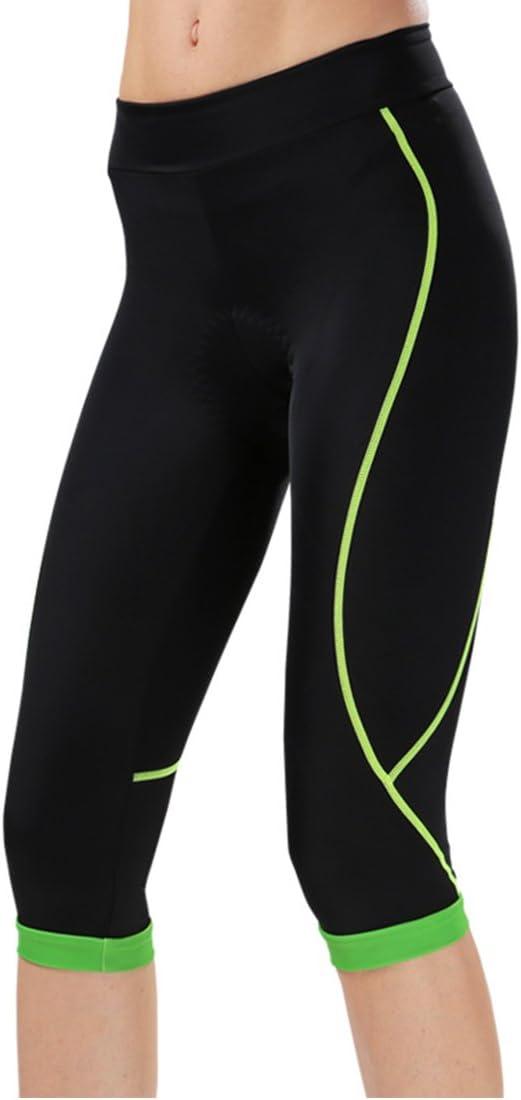 GWELL con imbottitura per un comfort estremo pantaloni a 3//4/da ciclismo da donna