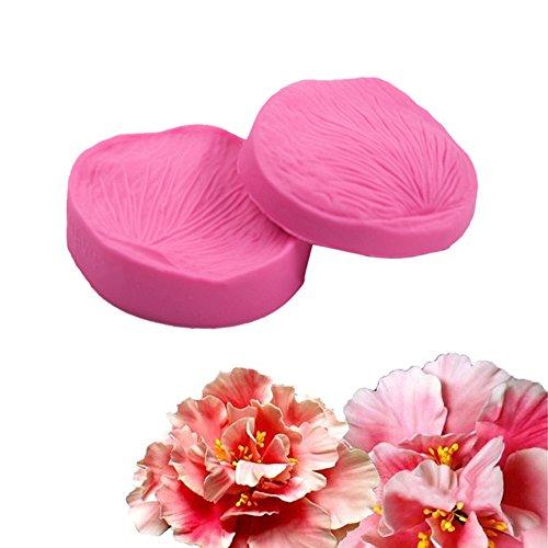 FOUR-C Decorating Tools Petal Veiner Chocolate Molds Cupcake Decorations Color Pink