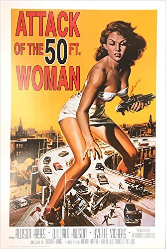 Attack of the 50 Foot Woman Vintage Movie Poster by Imaginus Posters