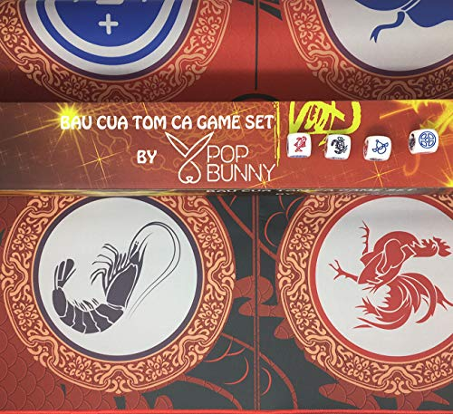 Fish Crab - BAU Cua Tom Ca TET Game Set by Pop Bunny - Lucky Chess Game - Chinese New Year Game