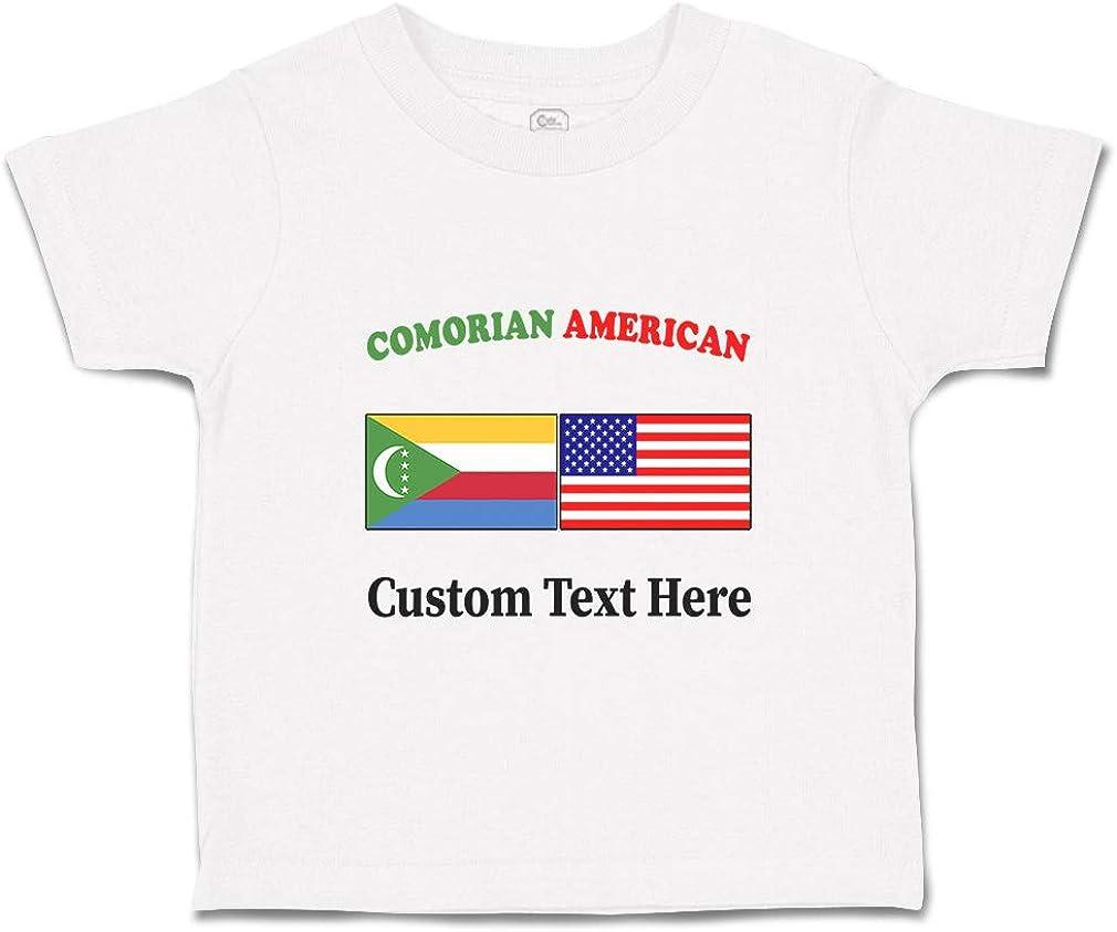 Custom Baby /& Toddler T-Shirt Comorian American Cotton Boy Girl Clothes