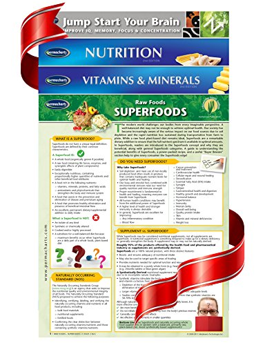 Health and Nutrition Guides - 4 Chart Bundle of Quick Reference Guides by Permacharts