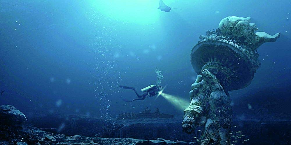 VIP.LINE Undersea Hand Aquarium Background Poster HD Fish Tank Decorations Landscape (96'' x 30''/ 244 x 76cm) by VIP.LINE