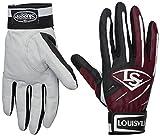 Louisville Slugger BG Series 5 Batting Glove, Maroon, Small