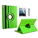 iPad Pro 9.7 Case, inShang Smart Cover for iPad Pro 9.7 inch (2016) Stand With Auto Sleep Wake Function, 360 Degree Rotating 1pc business Stylus + HD screen protector Green