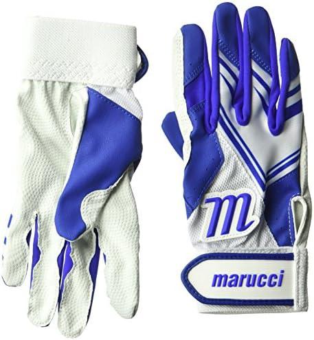 Marucci F5 Youth Medium Batting Gloves White//Black MBGF5Y-W//BK-YM