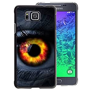 A-type Arte & diseño plástico duro Fundas Cover Cubre Hard Case Cover para Samsung ALPHA G850 (Eye Fire Orange Passion Woman Lashes)