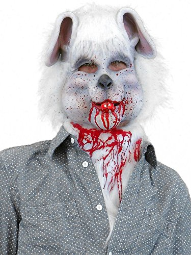 Fur Bib - White Fur Bunny Bib With Blood
