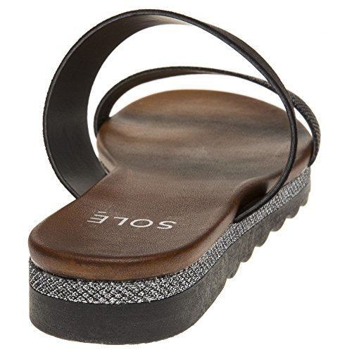 Sole Sandals Amabel Sole Metallic Amabel Black Sandals Black Metallic YwXxYUPr