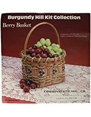 Commonwealth Basket Burgundy Hill Basket Kits, Berry Basket 4-Inch by 4-Inch by 4-1/2-Inch
