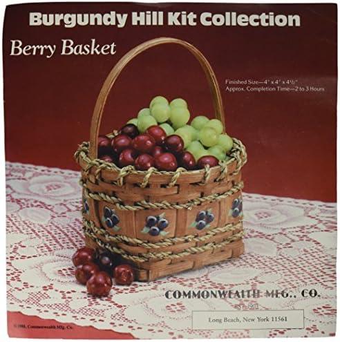 Commonwealth Basket Burgundy Hill Basket Kits Berry Basket 4- x 4-12- / Commonwealth Basket Burgundy Hill Basket Kits Berry Basket 4- x 4-12-