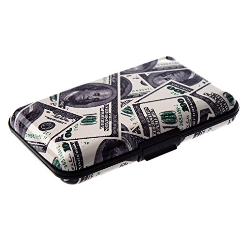 TOOGOO(R) Farbe, Metall, Aluminium Identifikation-Kreditkarte-Kasten-Mappen-Geldbeutel-Taschen-Halter-Kasten - Dollar Korn