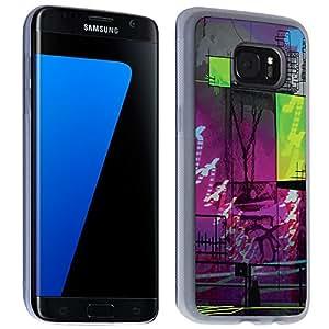 Accesorio Carcasa Funda–Funda original para Samsung Galaxy S7Edge–PinkGreen