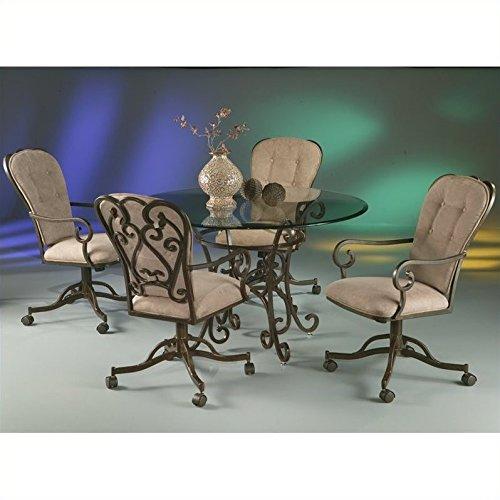 Pastel Furniture Magnolia 5 Piece Dining Table Set in Autumn Rust
