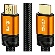 IBRA Orange HDMI Cable 100ft - UHD HDMI 2.0 (4K) Ready -18Gbps-28AWG Braided Cord -Gold Plated Connectors -Ethernet,Audio Return-Video 4K 2160p,HD 1080p,3D -Xbox PlayStation PS3 PS4 PC Apple TV