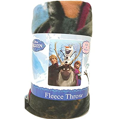 Disney Movie Frozen Fleece Throw Blanket - Anna, Olfa the Snowman and Kristoff Fleece Throw Blanket 46