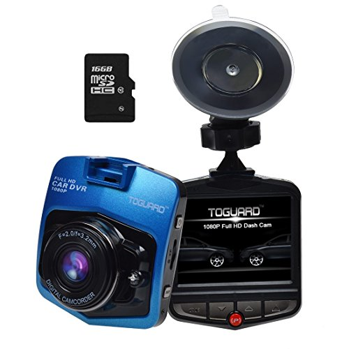 "UPC 756320130421, Blue TOGUARD 2.46"" LCD Full HD 1080P Dashcam Car Dvr Camera,Novatek NT96220,G-sensor,Motion Detection,Loop Recording,16GB Micro SDHC card included"