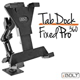 """iBOLT TabDock FixedPro 360 -Heavy Duty Metal 8"""" Multi-Angle Drill base mount for all 7"""" - 10"""" tablets (iPad, Nexus, Samsung Tab) For Desks, Tables, Countertops : Great For Homes, businesses, etc."""