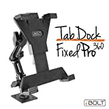 "iBOLT TabDock FixedPro 360 -Heavy Duty Metal 8"" Multi-Angle Drill base mount for all 7"" - 10"" tablets ( iPad , Nexus, Samsung Tab ) For Desks, Tables, Countertops : Great For Homes, businesses, etc."