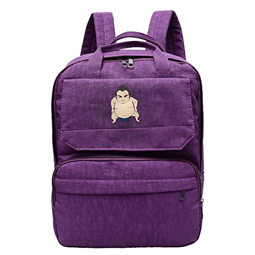Sumo Wrestle Clipart Backpack For Women,Girls Leisure Shoulders (Sumo Womens Laptop Purse)