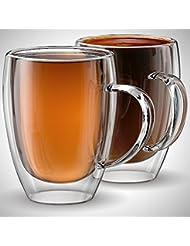 Amazoncom Glass Coffee Cups Mugs Cups Mugs Saucers