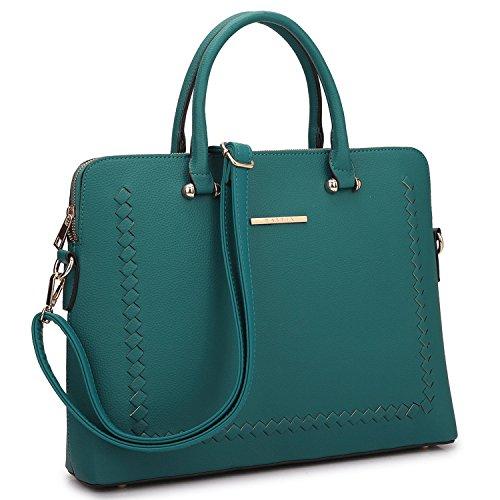 Women Fashion Purses and Handbags Ladies Tote Bag Slim Shoulder Bag Top Handle Satchel Purse (01 Stitching Design- Turquoise) ()