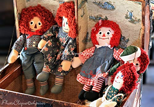 Raggedy Ann & Andy/Nostalgic Still Life of Vintage Dolls/Fine Art Photography Print