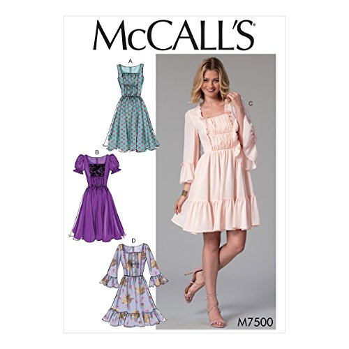 (McCall Patterns M7500A50 Misses' Gathered and Ruched Dresses)