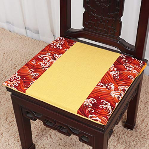 High End Cotton Linen Chinese Patchwork Cushion Office Chair Seat Pad Seat Car Reusable Cloth Mat