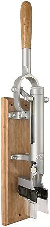 BOJ 09941 - Sacacorchos profesional de pared con soporte de madera, color cromado mate