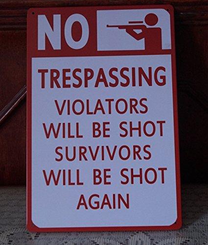No Waring Poster Vintage Metal Tin Signs Cabin Pub Bar Wall Decor
