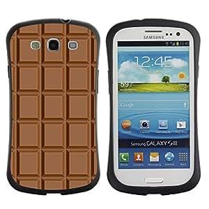 Paccase / Suave TPU GEL Caso Carcasa de Protección Funda para - Chocolate Checkered Pattern Wallpaper Art - Samsung Galaxy S3 I9300
