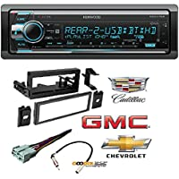 Kenwood Excelon KDC-X702 CD Receiver w/ Built-In Bluetooth, HD Radio Car CD Stereo Receiver Dash Install Mounting Kit Wire Harness Cadillac Cheverolet GMC 1995- 2005