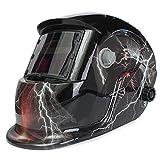 LEXPON Automatik Schweißhelm Solar Welding Helmet Schweißmaske Schweißschirm Schweißschild(Lightning mit Schädel Gott)