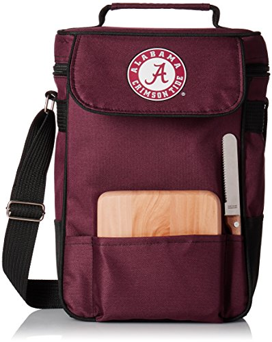 NCAA Alabama Crimson Tide Duet Insulated Wine and Cheese Tote with Team Logo (Alabama Crimson Tide Cheese Board)