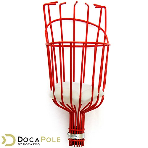 DOCAZOO DocaPole Fruit Picker - Twist-On Fruit Picker Tool for an Extension Pole or Telescopic Pole // Fruit Picker Pole // Ideal for Apple Picking, Avocados, and Other Fruit // DocaPole Attachment (Telescopic Tool Garden Set)