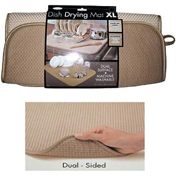 "The Original™ Dish Drying Mat XL Microfiber Absorbent Machine Washable Fast Drying 18""X24"" Multipurpose"