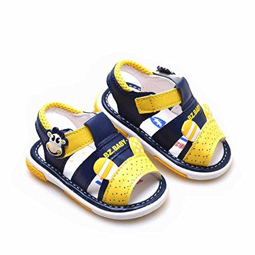 Scothen Niño unsex cuero nobuck bebé sandalia sandalias del bebé zapatos de bebé de los bebés, zapatos, zapatos de bebé del niño de las sandalias de la muchacha del verano zapatos del bebé Blue