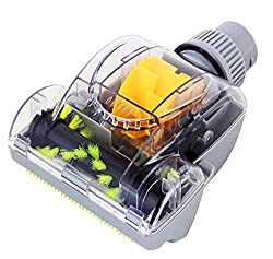 ECOMAID 1-1/4-Inch 32mm Air Driven Pet Upholstery Turbo Brush Vacuums Nozzle Tool with Pet Attachment Swivel Head