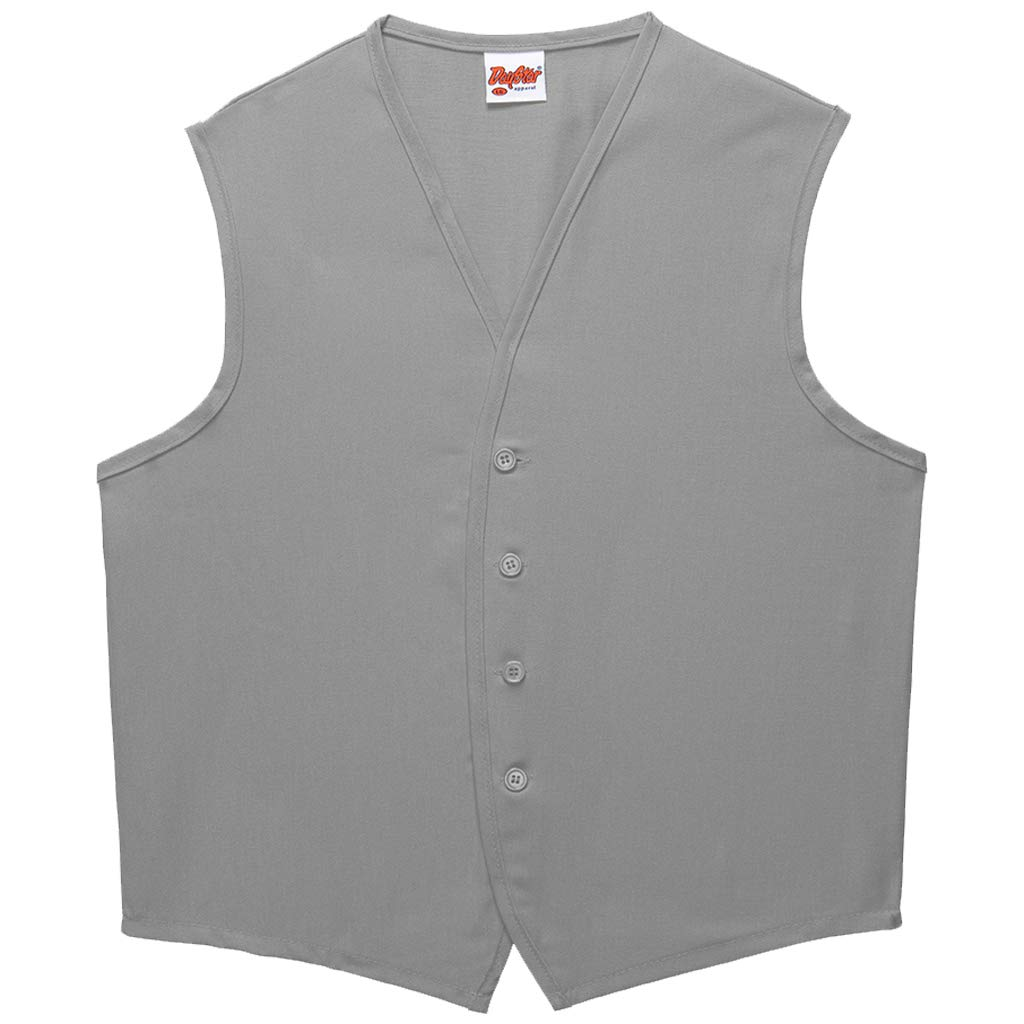 DayStar Apparel 740NP-BTN No Pocket Button Unisex Vest, Silver, 5XL by DayStar Apparel