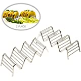 Taco Holder - Taco Stand - Stainless Steel Rack for Taco Shells - Restaurant Style Rack - Package of 2 - Plus Bonus Recipes