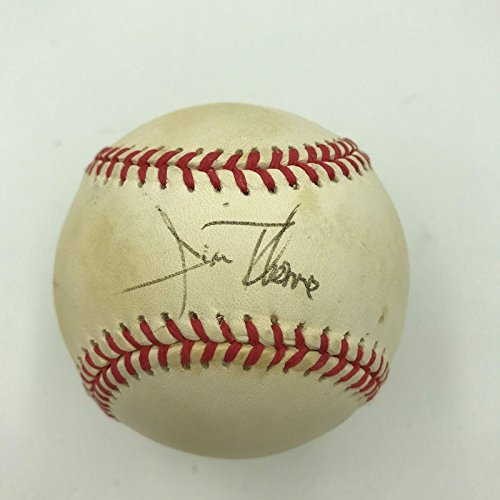 1990's Jim Thome Rookie Era Signed American League Baseball COA - JSA Certified - Autographed Baseballs ()