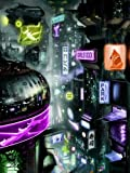 DJ1251 Cyberpunk Sci-Fi Future City Art 32×24 Print POSTER Picture