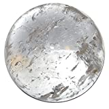 Satin Crystals Quartz Clear Ball 1.9'' Collectible Very Translucent Master Reiki Healing Brazilian Crystal Sphere C07
