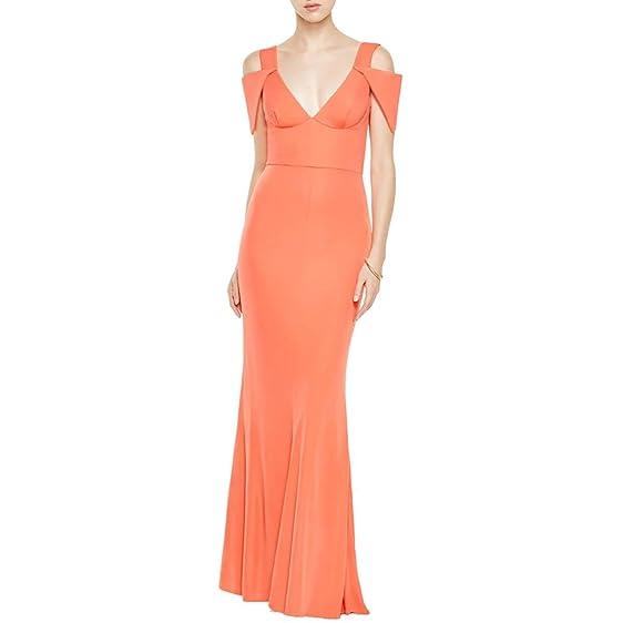 ABS by Allen Schwartz Womens Open Shoulder Full-Length Formal Dress ...