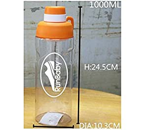 Large BPA Free Water Bottle with Flip Lid By Run Baby Sport (pink)