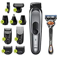 Braun Hair Clippers for Men, MGK7221 10-in-1 Body Grooming Kit, Beard, Ear and Nose Trimmer, Body Groomer and Hair…