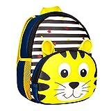 Fligatto Cute School Backpack, Kawaii Cartoon Animals Design Kids School Book Bags Toddler Children Small Backpack Daysack For Girls Boys (Tiger)